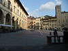 Arezzo:  Piazza Grande, looking southeast from the north corner.  Geographoc coordinates:  43.465099,11.884117.