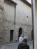 Along Via Giulia in Spello:  remains of frescos on outside walls exposed to weather.