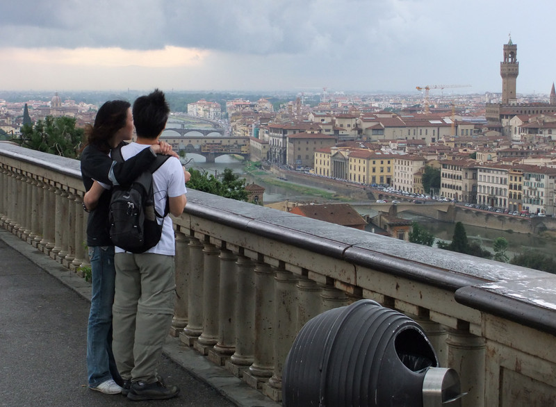 Firenze from Piazzale Michelangelo as a thundershower approaches the city.