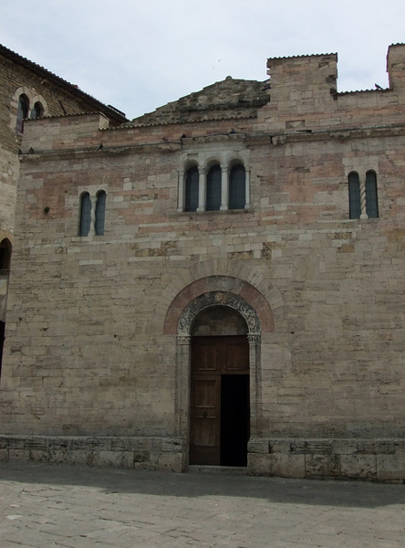 Main entry to Chiesa San Silvestro (deconsecrated), Bevagna, Umbria,