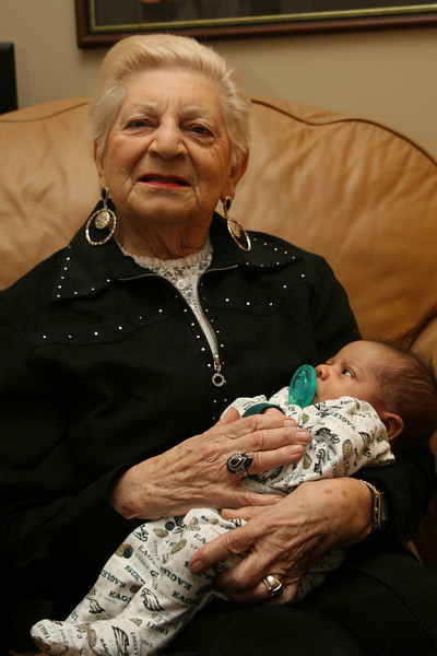 Memom holds her great-grandson