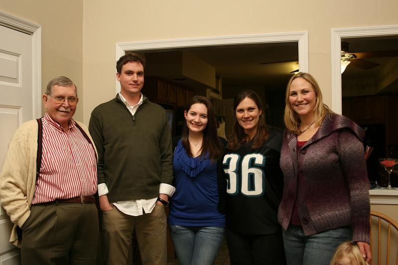 Uncle Fran, Justin, Sarah, Katie and I