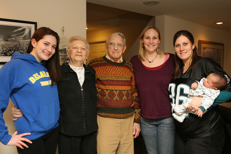 Sarah, MeMom, Poppop, me and Katie