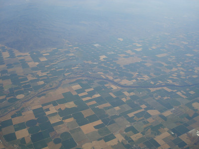 Somewhere over southern Idaho or northern Utah