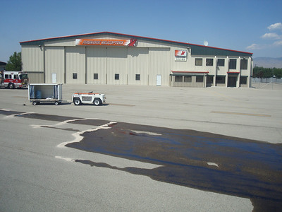Flight to Utah diverted to Boise, then there was a fuel spill.