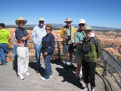 Bryce Point, with Mac, Tim, Martha, Glenn, Brandon, Kathy