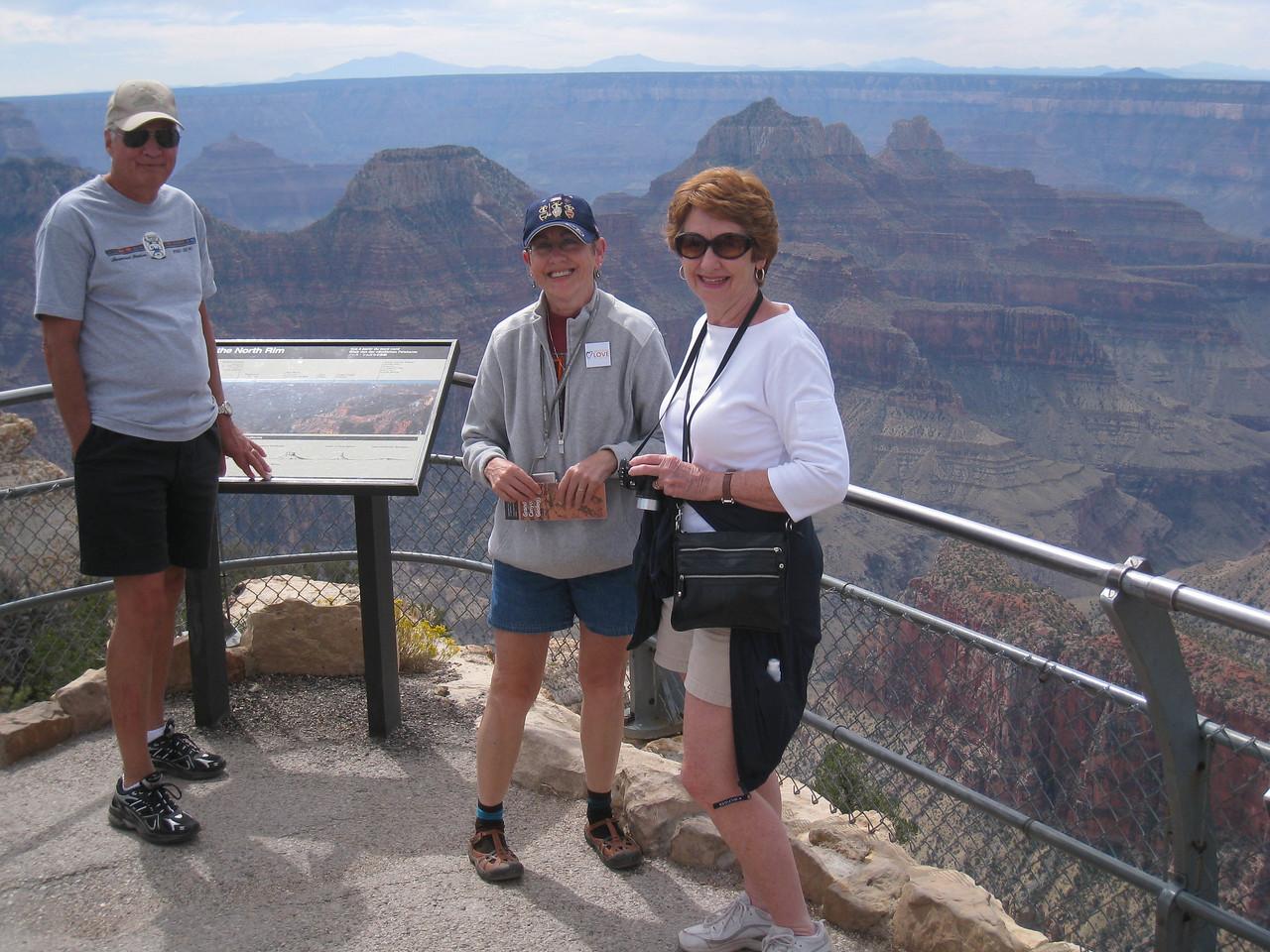 Bright Angel Point, Grand Canyon North Rim, Tim, Lois, Martha