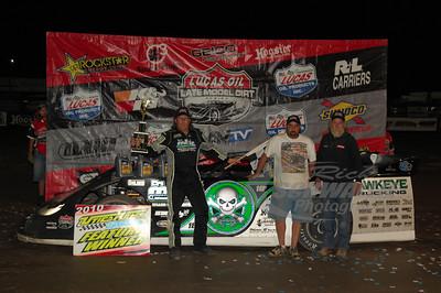 Scott Bloomquist in Victory Lane @ Utica Rome Speedway