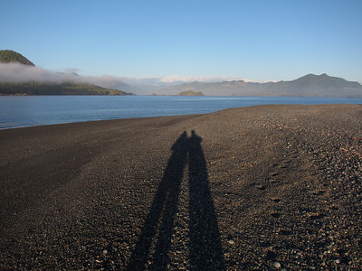 our shadows on Catala Island Provincial Park