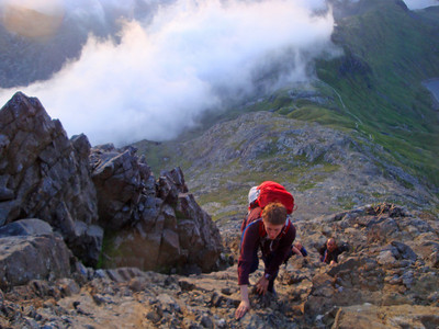 8 Crib Goch climb Andrew T