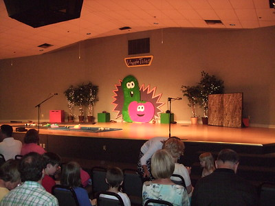 The Big Veggie Tales Performance....