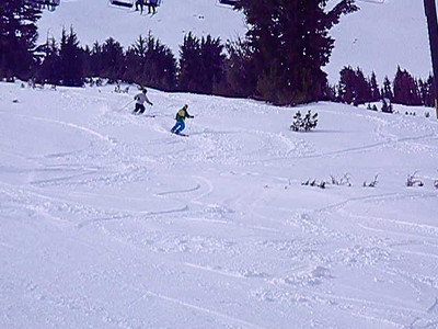 Aaron and Harrison making Powder 8's on the backside at Kirkwood.  Video by John Donovan.