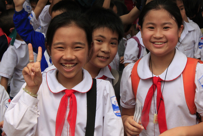 Schoolchildren on a field trip.