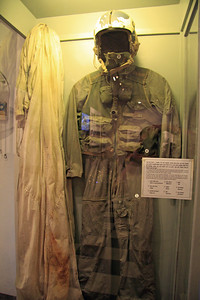 John McCain's flight suit at the Hoa Loa prison museum, known to American prisoners as the Hanoi Hilton.