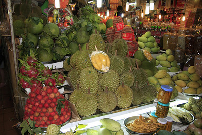 Dragonfruit, Rambutan, Durian, Pomelo, Tamarind, Mangos, and Green Papaya.  Do you need any other reason to come to SE Asia?