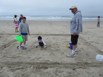 Sandcastle building contest begins