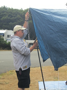 Adding the awning that we didn't bother putting up in the dark