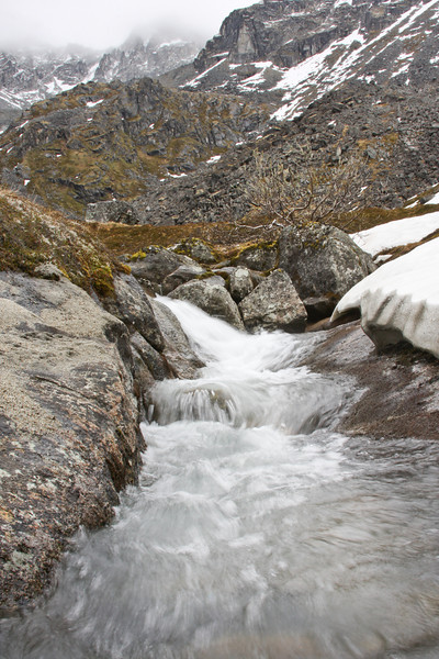 Water rushes ever onward in seemingly infinite amounts as snow melts and rain falls in Lane Valley.