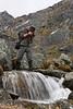 Richard Harrop takes his shot at this small waterfall.