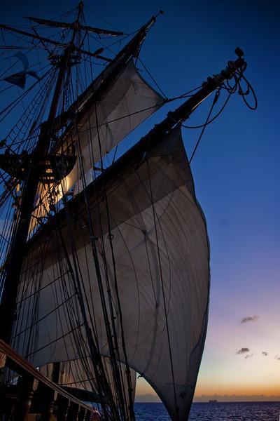 unicorn ship sunset st lucia