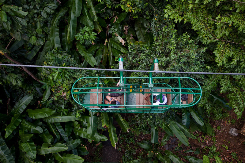 aerial tram rainforest st lucia