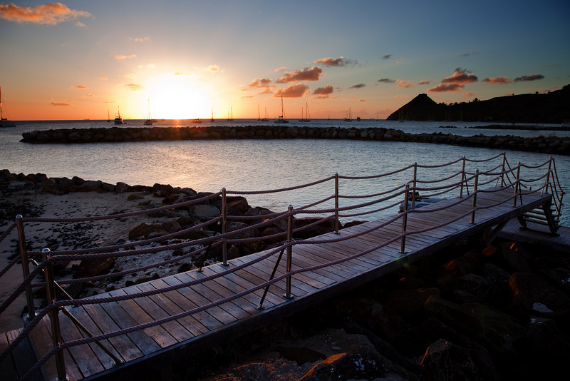 bridge sunset landings st lucia 1