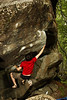 James moves into the tough overhang of <i>Kshatriya V7</i> .