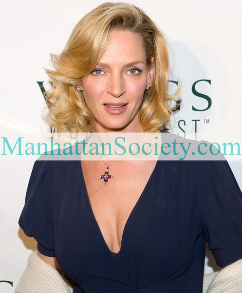 NEW YORK-APRIL 15:Uma Thurman, Honorary Chair attends WINGS WorldQuest: 2010 WINGS Women of Discovery Awards on Thursday, April 15, 2010 at Tribeca Rooftop, 2 Debrosses Street, New York City, NY   (PHOTO CREDIT: ©Manhattan Society.com 2010 by Gregory Partanio)
