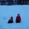 Sledding in the Fischer back yard 12-26-09