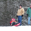 Derek and I in Montpelier, VT with the boys.... sledding!