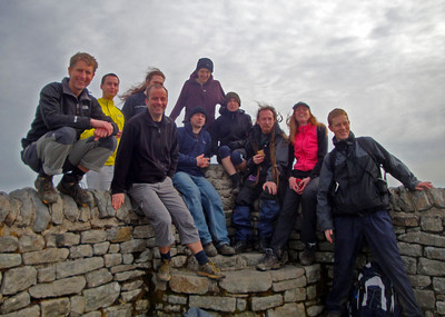 Peak 1: Ingleborough. A bit windy...