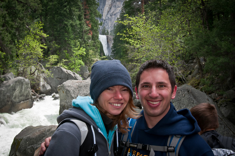 Sammi and I on the bridge on to Vernal Falls. This is just before the Mist Trail