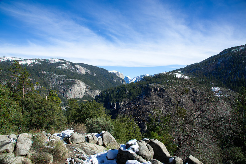 The way to Yosemite Valley