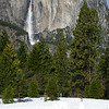 Yosemite Falls in the early afternoon