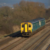 150280 + 150229 pass Coedkernew working the 13:40 Ebbw Vale Parkway - Cardiff Central 23/01/10