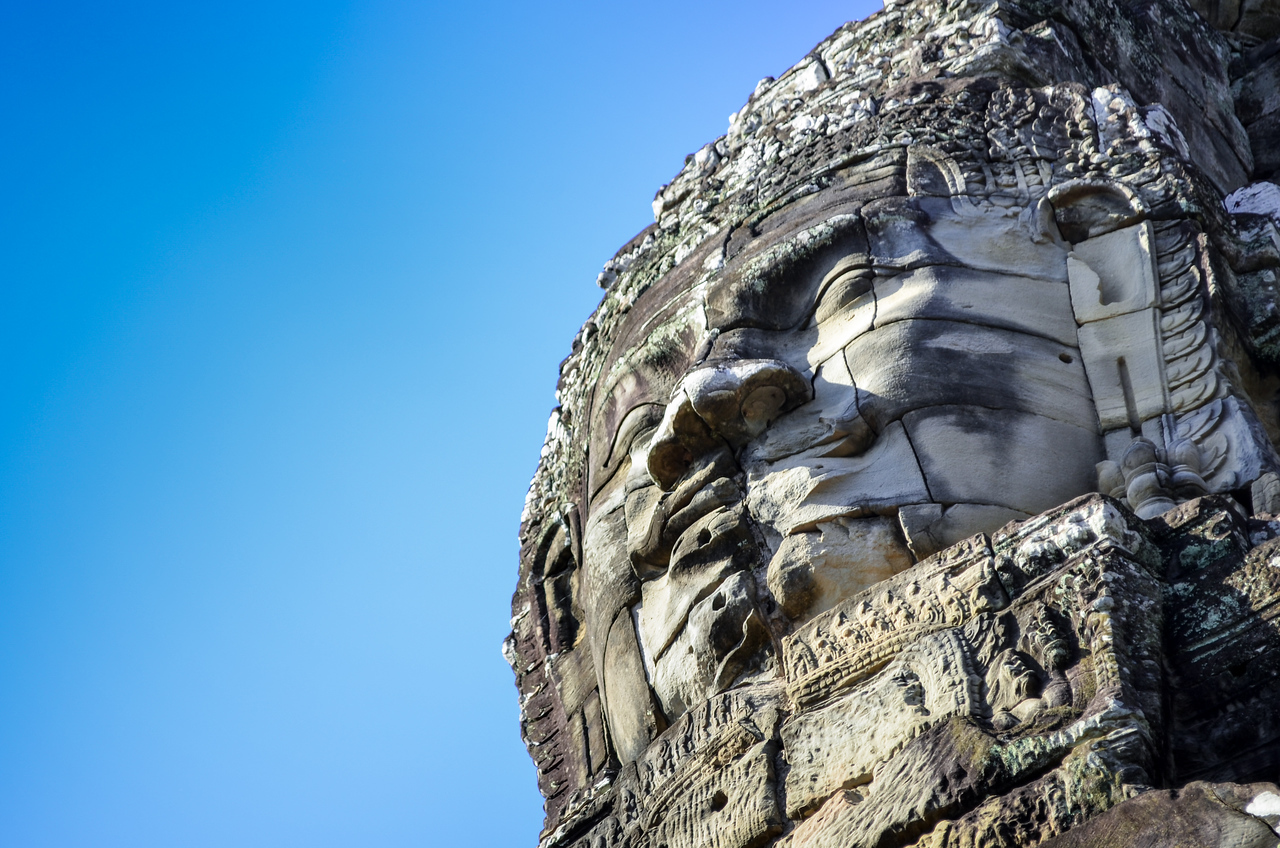 Face at Bayon Temple, Angkor Wat