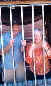 Bales Principal Joel Hannemann and FISD Asst. Superintendent Sherry Green in 'Jail'