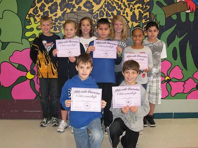 November/CITIZENSHIP: 4th Grade - Cade Lovett, Bryce Jensen, Sallianne Roher, Lucas Hopkins, Maddie Smith, Aundria Stokes, Annie Revere, Juan Sanchez, Nick Flores