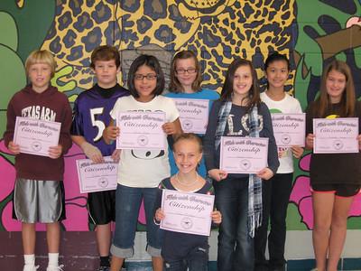 November/CITIZENSHIP: 5th Grade - Kaitlyn Ngo, Blake Seiler, Claire Battenfield, Ryan Roper, Katie Mulloy, Anna Laza, Hannah Ondler, Savanna Trump