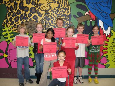 December/CARING: 5th Grade - Peyton Ringer, Caroline Slaton, Nolan Wright, Patricia Baker, Courtney Banfield, Alondra Zamora, Mark Ranosta, jJacson Carter