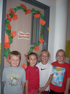 Second graders were excited about their decorated doors.