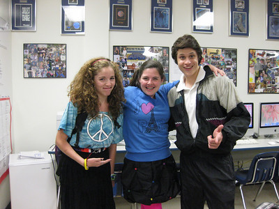This is the first day of Homecoming activities. Flashback in time? FHS celebrated Homecoming Week with an 80s Spirit Day.