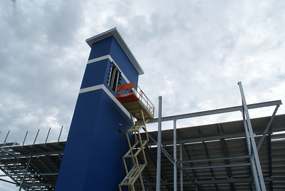 Stadium Elevator to Press Box on Home Side