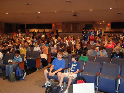 Clean Living Encouragement and Responsibility (CLEAR) held its first junior high rally/meeting in the auditorium on September 21 and 170 students attended and signed up for membership.
