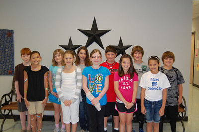Congratulations to Windsong's Super Stallion Citizens for the month of April.  These students were chosen by their teachers and fellow students for showing the character trait of Responsibility. Fourth Grade - Audrey Massicott, Alex Sansom, Summer McNatt, Jenna Horn, Blythe Beason, Madison Dalton, Austin Pitts, Robert Arnold, William North, Abigail Colbert, Abby Reese