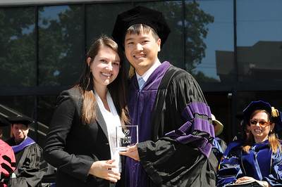 Casson Wen 13L, right, received both student awards, the Minister Gloria Jean Fowler Angel Award and the Most Outstanding Third-Year Student Award.