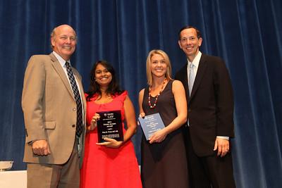 Alumni Awards- Professor Frank Alexander, Priya Vivian, Leslie Powell, Dean Schapiro