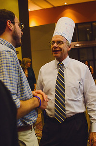Dean Riggs interacting with students