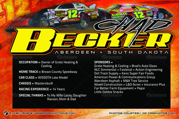 Becker RaceCards