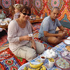 Breakfast in the desert: Katerina with our guide Magdi
